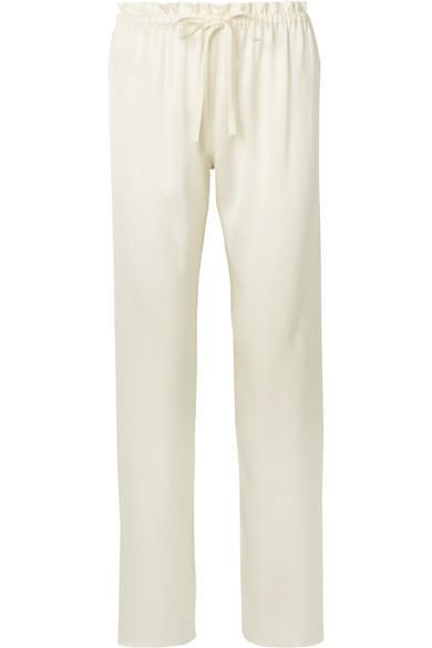 Paco Silk-satin Straight-leg Pants