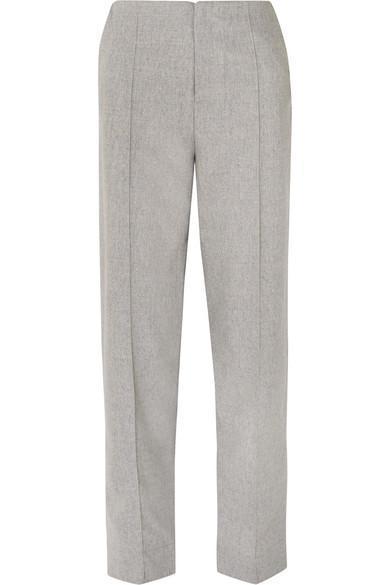Neon Pintucked Wool-blend Pants