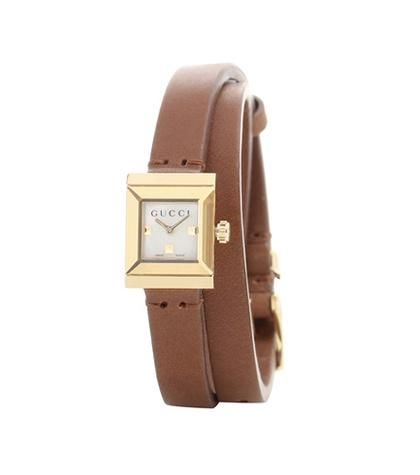 G-Frame Small Square leather watch