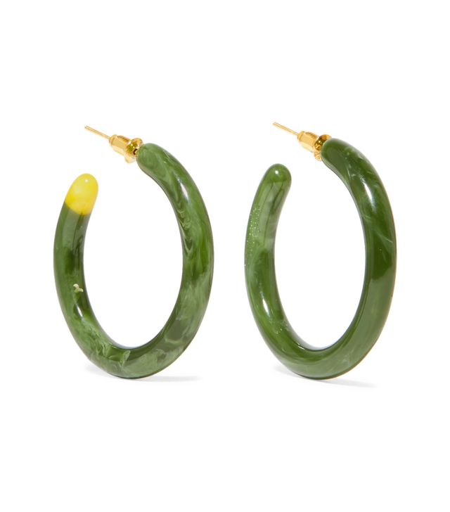 Rhea Resin Hoop Earrings