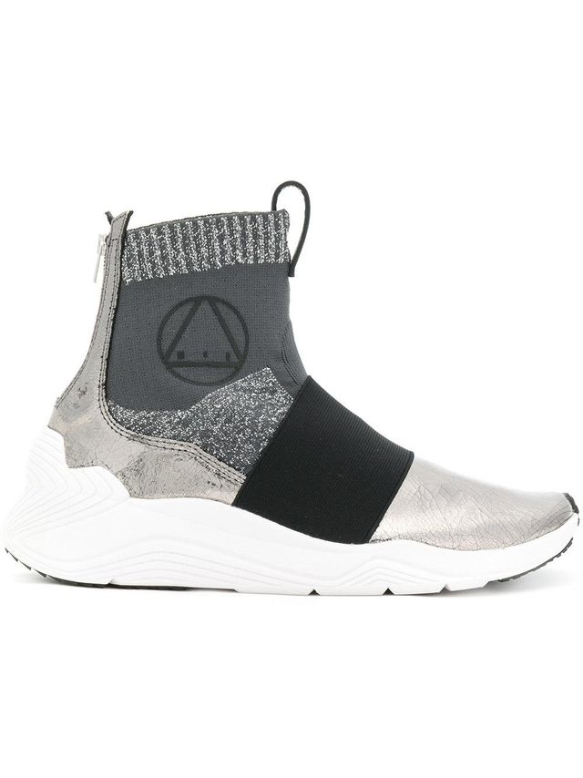 panelled sock sneakers