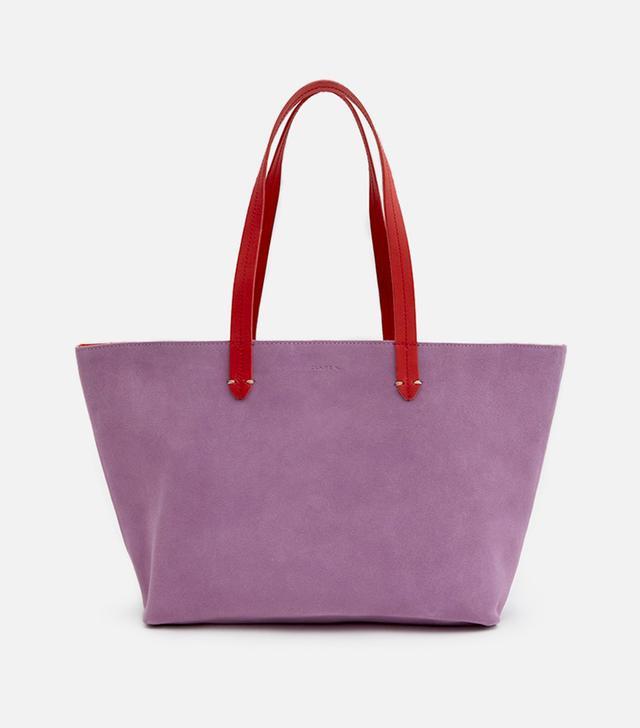 Suki Tote in Lavender Suede