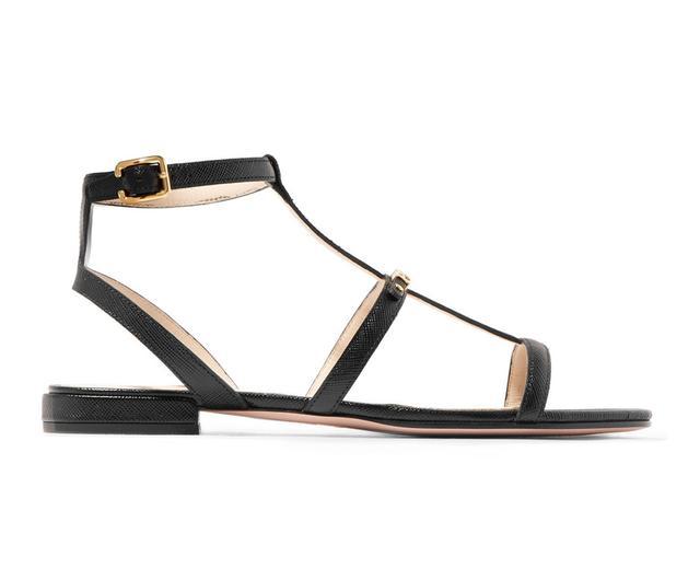 Logo-embellished Textured-leather Sandals
