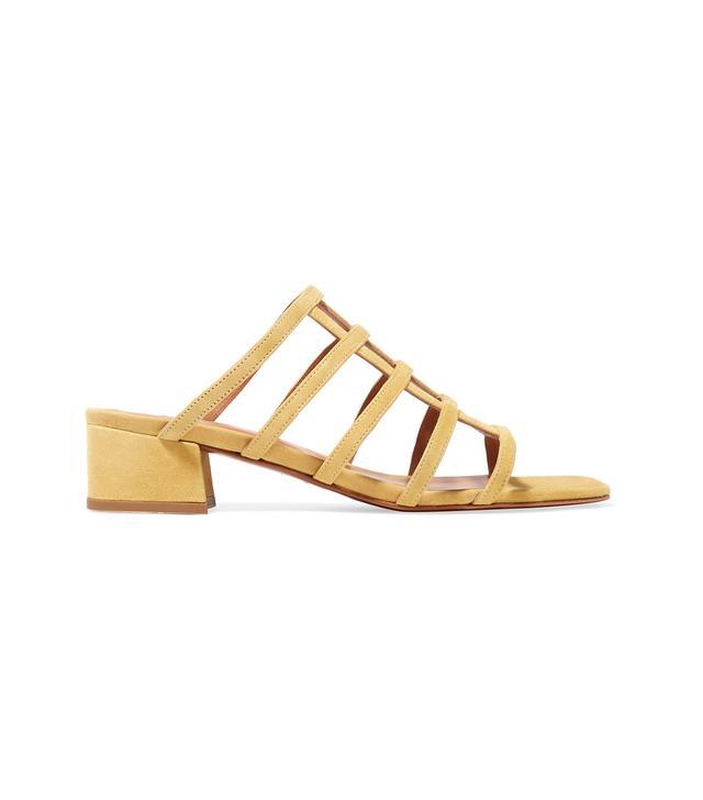 Grid Suede Sandals