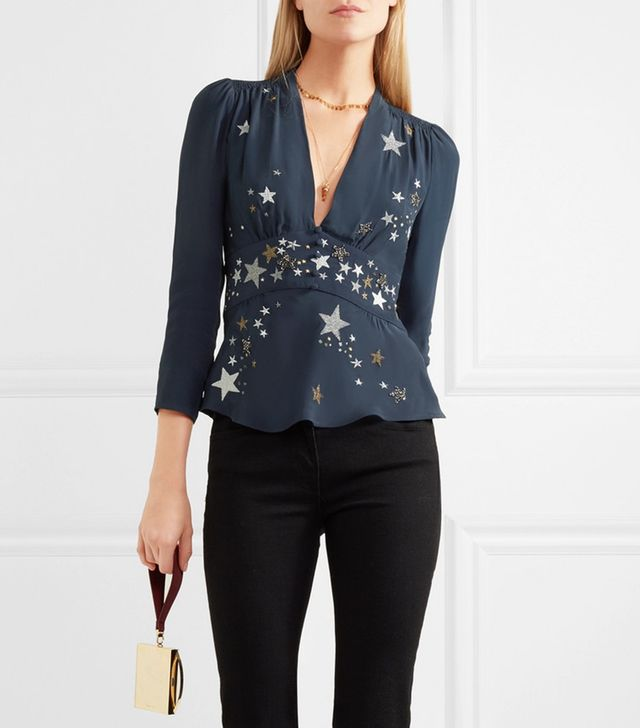 Pandora Embellished Embroidered Georgette Top