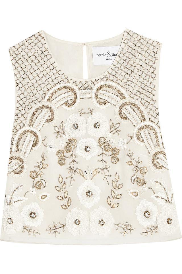 Embellished Chiffon Top