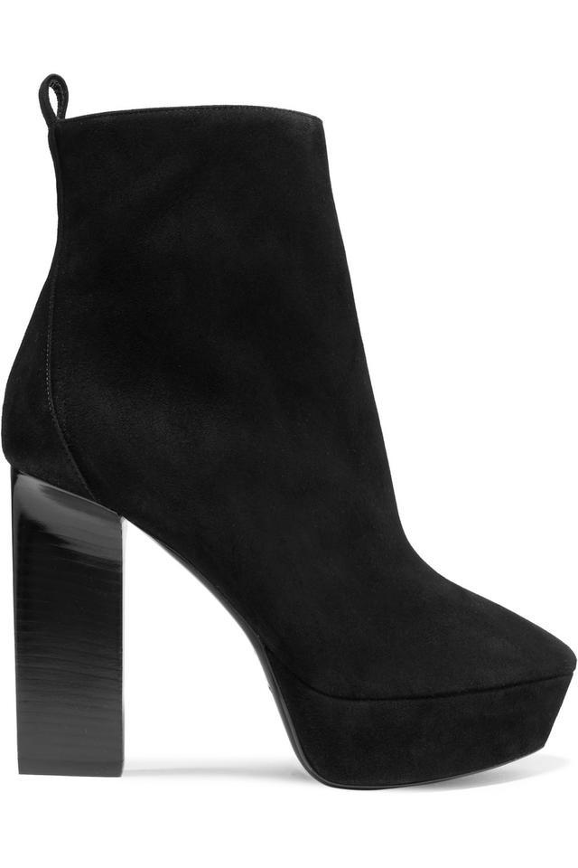 Vika Suede Platform Ankle Boots