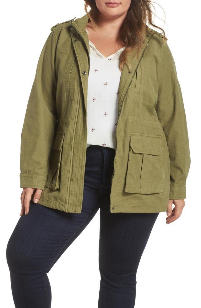 Plus Size Women's Levi's Cotton Fishtail Field Jacket