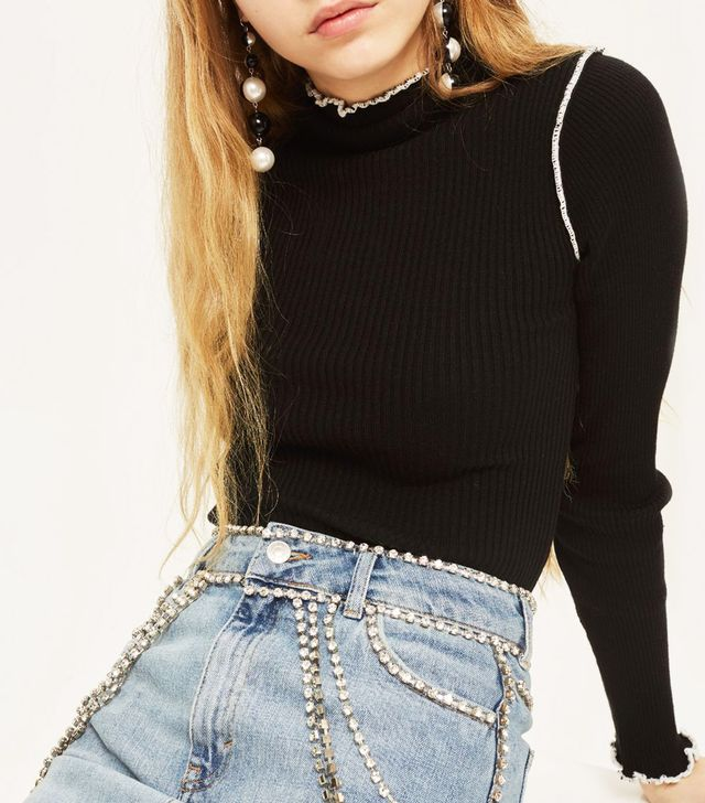 Lettuce Trim Cropped Jumper