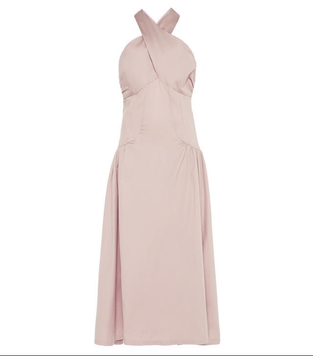 Ava Ruched Halter Dress