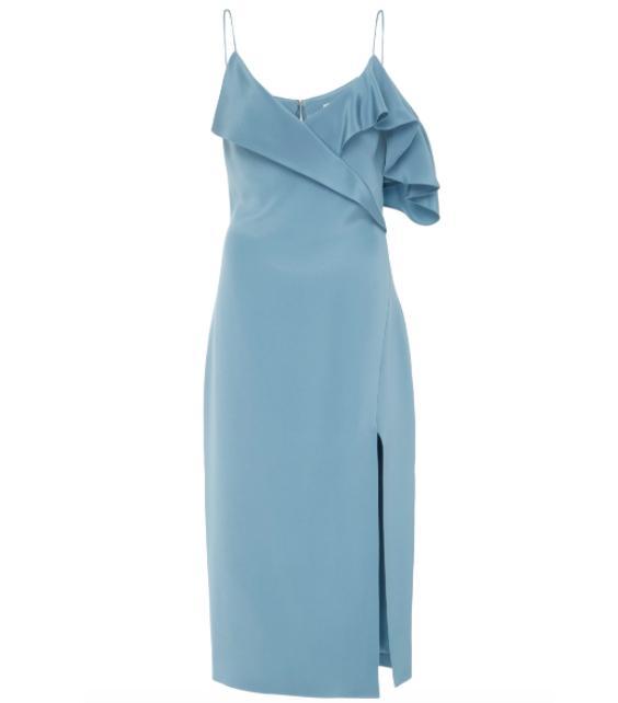 Adela Ruffled Pencil Dress