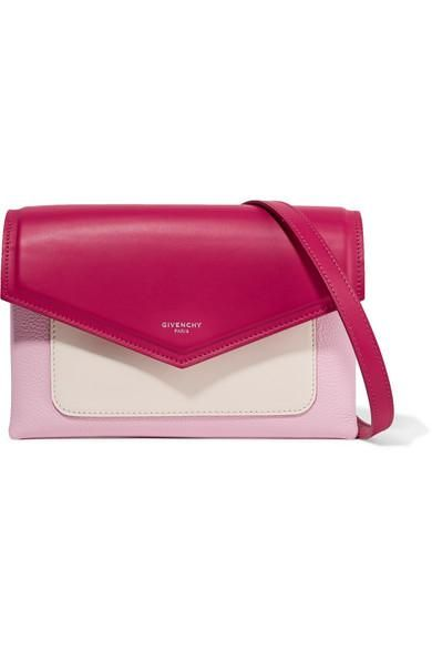 Duetto Color-block Leather Shoulder Bag