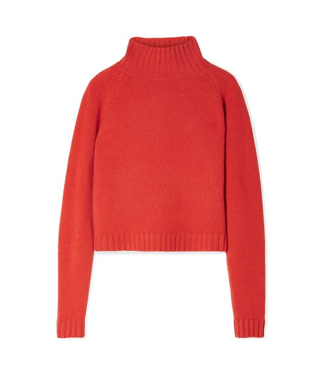 Highland Cropped Cashmere Turtleneck Sweater