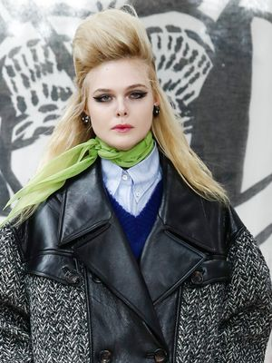 So, Elle Fanning, Does the Runway Have a Better View Than the Front Row?