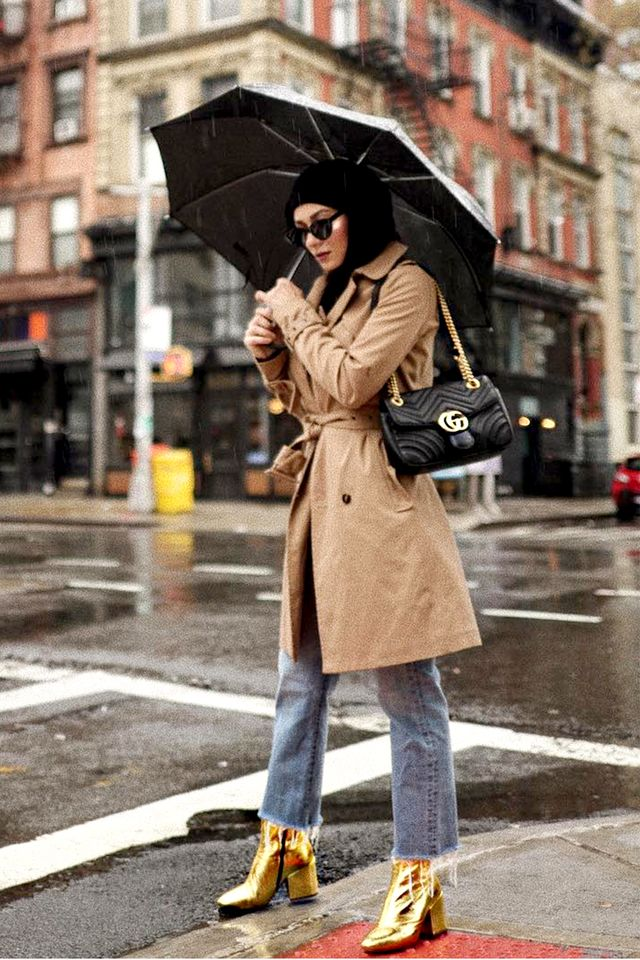 Add in statement shoes to make the coat feel particularly modern.