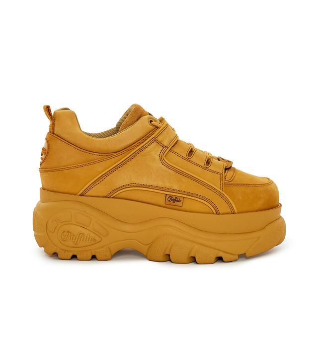 Buffalo Nubuck Low-Top Platform Sneakers