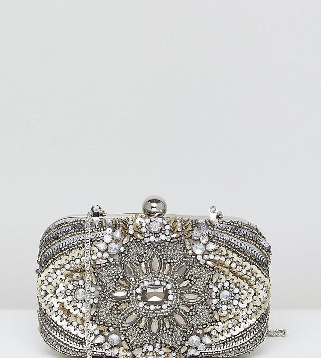 All Over Embellished Box Clutch Bag