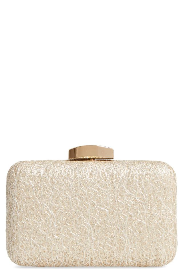 Abstract Lace Minaudiere - Metallic