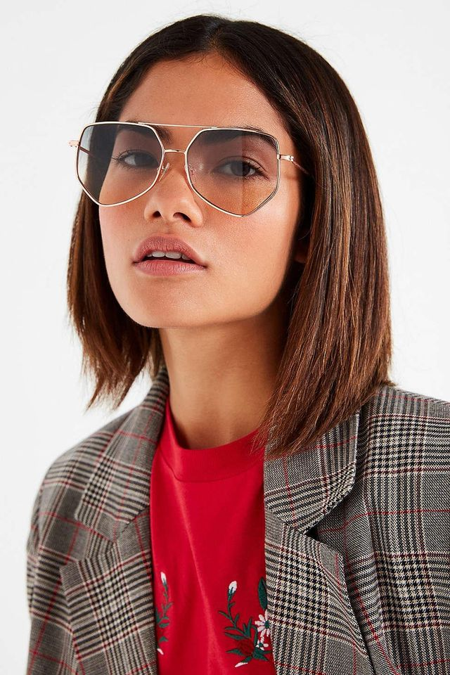 Superstar Geometric Aviator Sunglasses