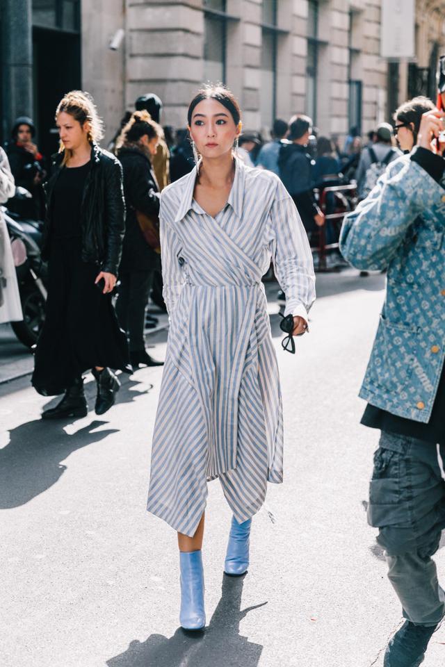 Striped dress for spring