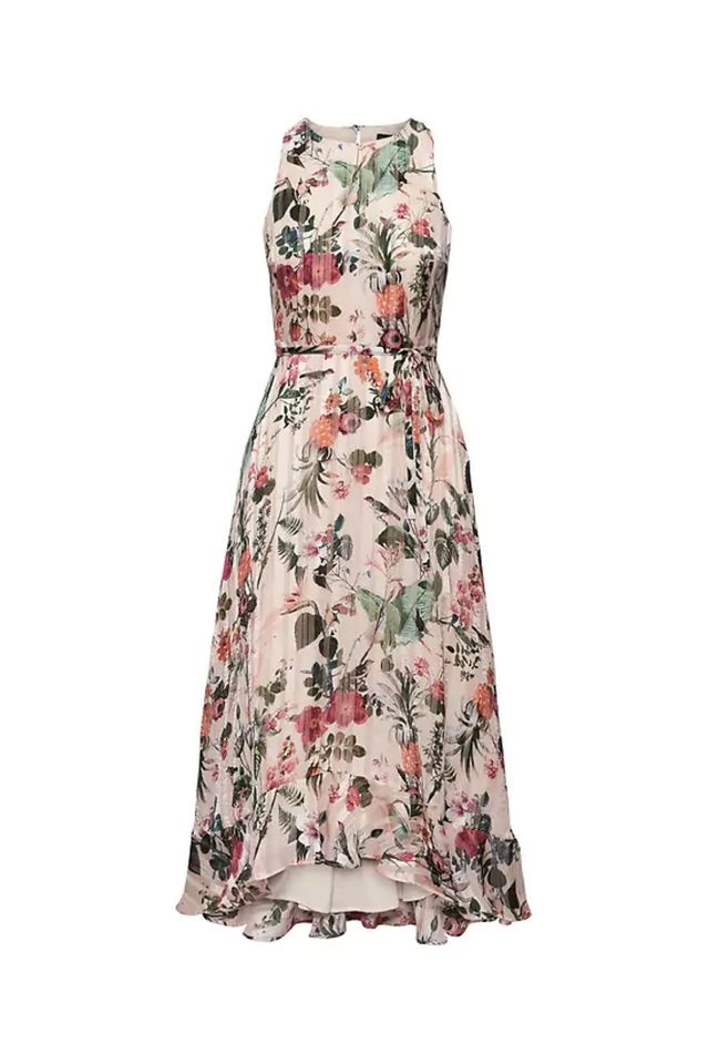 Banana Republic Botanical Print Fit-and-Flare Maxi Dress