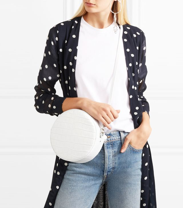 Tambourine Croc-effect Leather Shoulder Bag