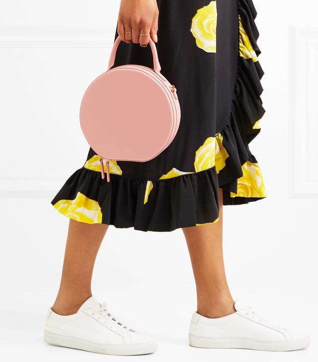 Circle Leather Shoulder Bag