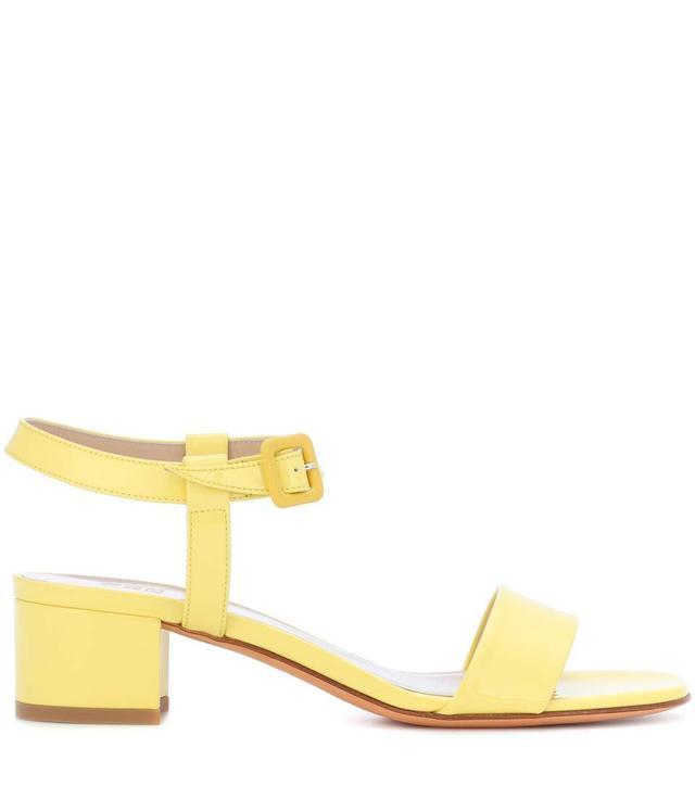 Maryam Nassir Zadeh Patent Leather Martina Slide Sandals