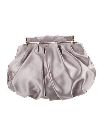Pleated Satin Frame Bag