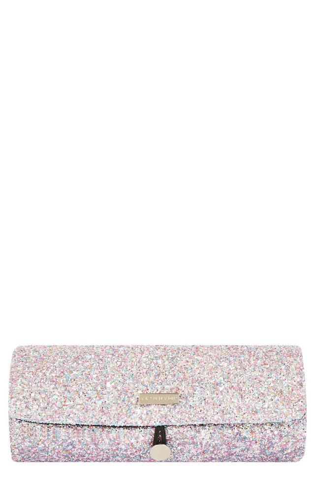Skinny Dip Treasure Glitter Cosmetics Roll Bag