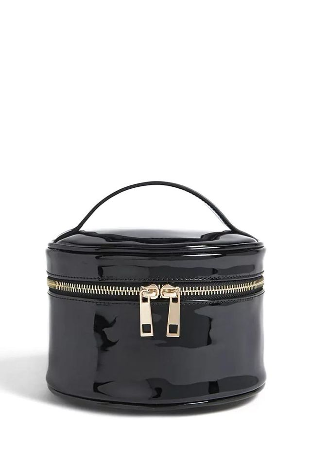 Patent Leather Makeup Case