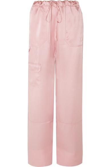 Silk-satin Pants