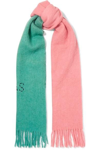 Kelowna Embroidered Two-tone Felt Scarf