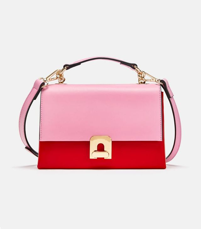 Zara Two-Tone Mini City Bag