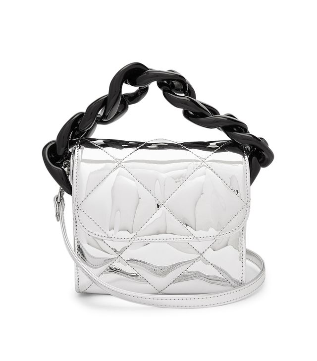 Oversized Curb-Chain Quilted Shoulder Bag