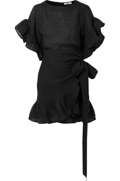 Delicia Ruffled Linen Mini Dress