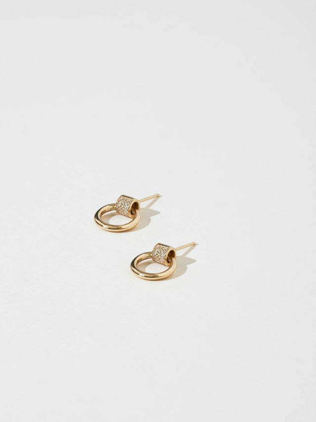 J. Hannah Petite Venn Earrings with Pavé