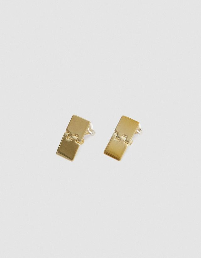 Hinge Earrings in Brass