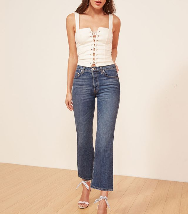 Reformation Mid Crop Flare Jeans