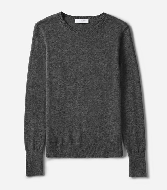 Women's Cashmere Crew Sweater by Everlane in Charcoal, Size XL