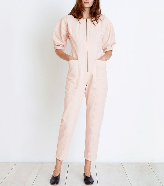 Apiece Apart Fit-Flare Flame-Thrower Jumpsuit