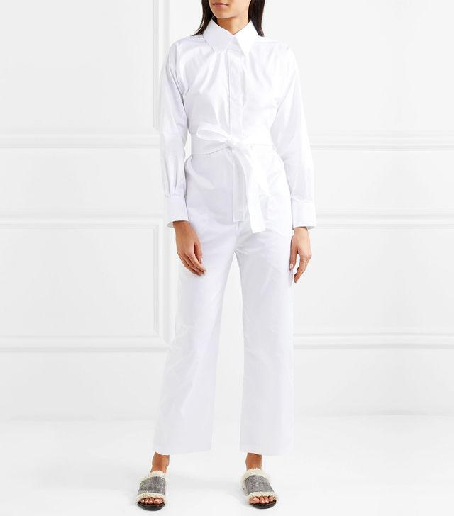 Belted Cotton Jumpsuit