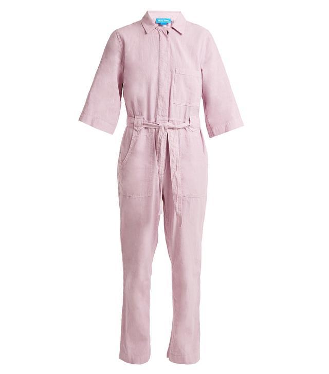 Montara tie-waist linen-blend jumpsuit