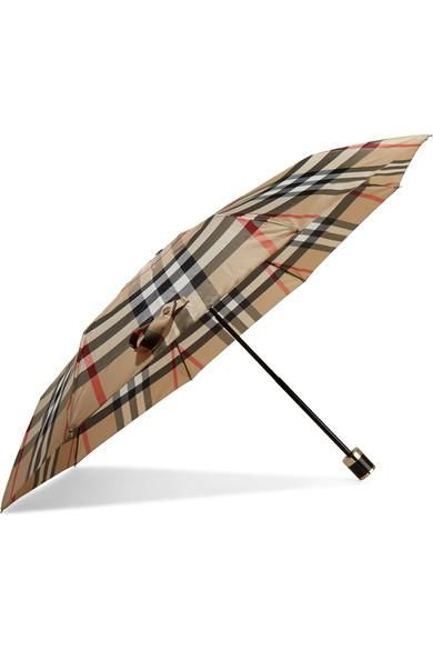 Checked Shell Umbrella