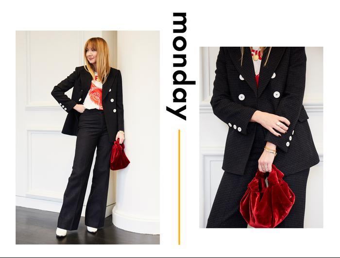 Lisa Aiken weekday wardrobe