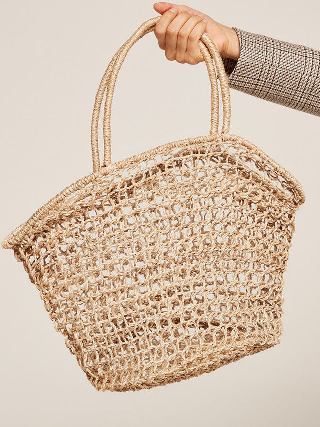 The Reformation Abaca Marina Basket Tote