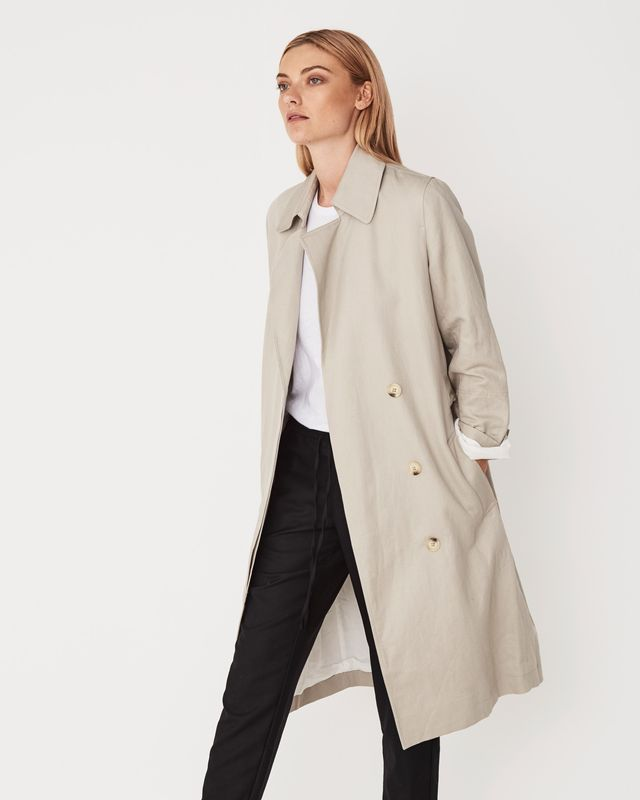 Assembly Label Verona Trench in Flax