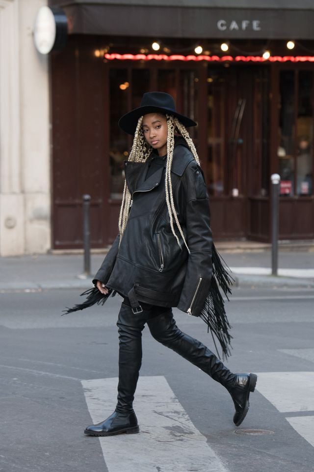 All black always looks chic. Add a hat for some extra drama.