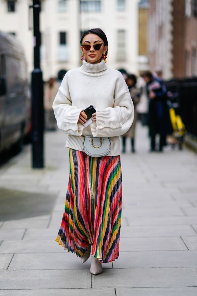 Pro-tip: Wear leggings under your maxi skirt for added warmth.