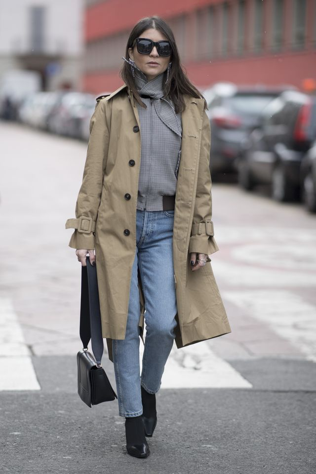 Trench coats are trending right now, just in time for winter.